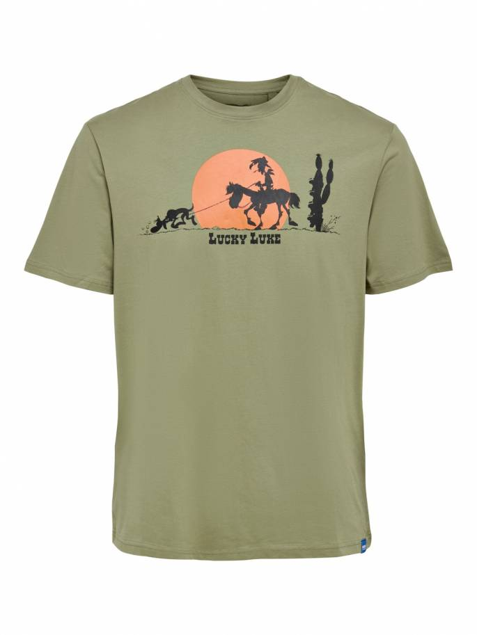 Camiseta LUCKY LUKE de corte regular -  Hombre - Uesti
