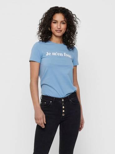 Camiseta con texto estampado - Mujer - Uesti