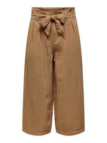 Pantalones unicolor de corte holgado - Mujer - Uesti
