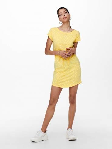 Vestido de corte holgado y manga corta - Mujer - Uesti