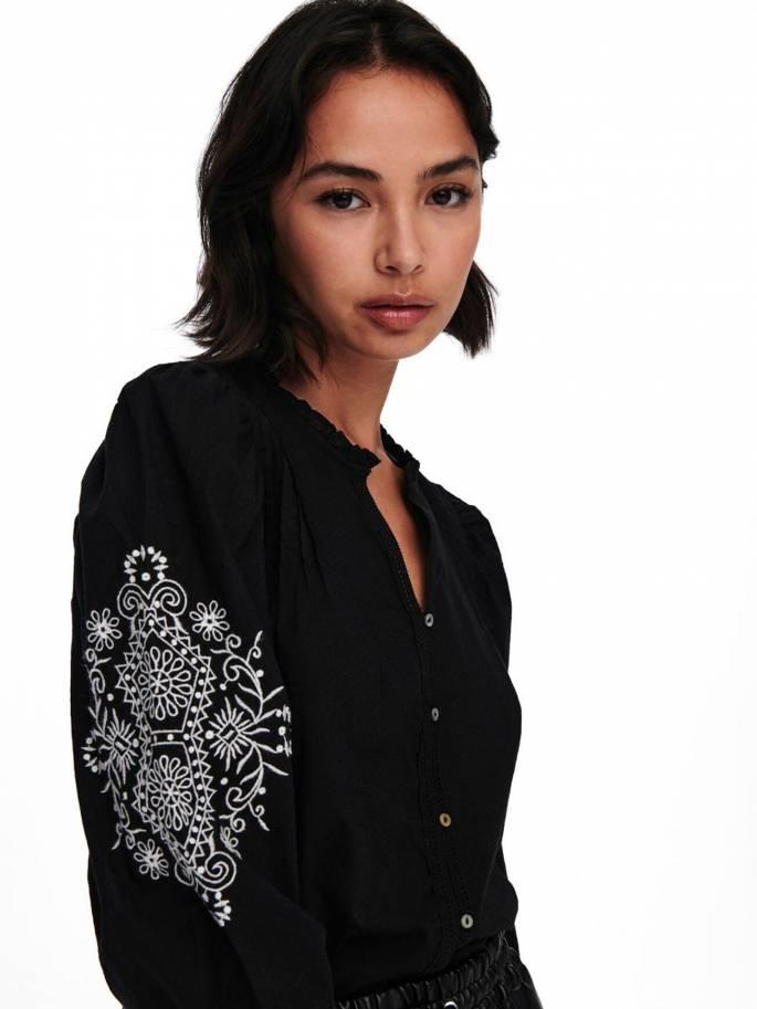 Camisa con Mangas abullonadas - Mujer - Uesti