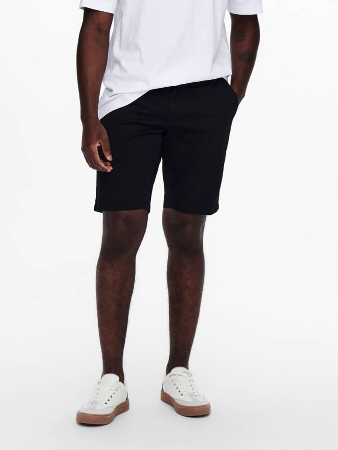 Cam shorts chinos color negro - Hombre - Uesti