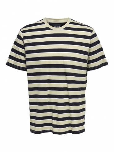 Camiseta reg fit de rayas -  Hombre - Uesti