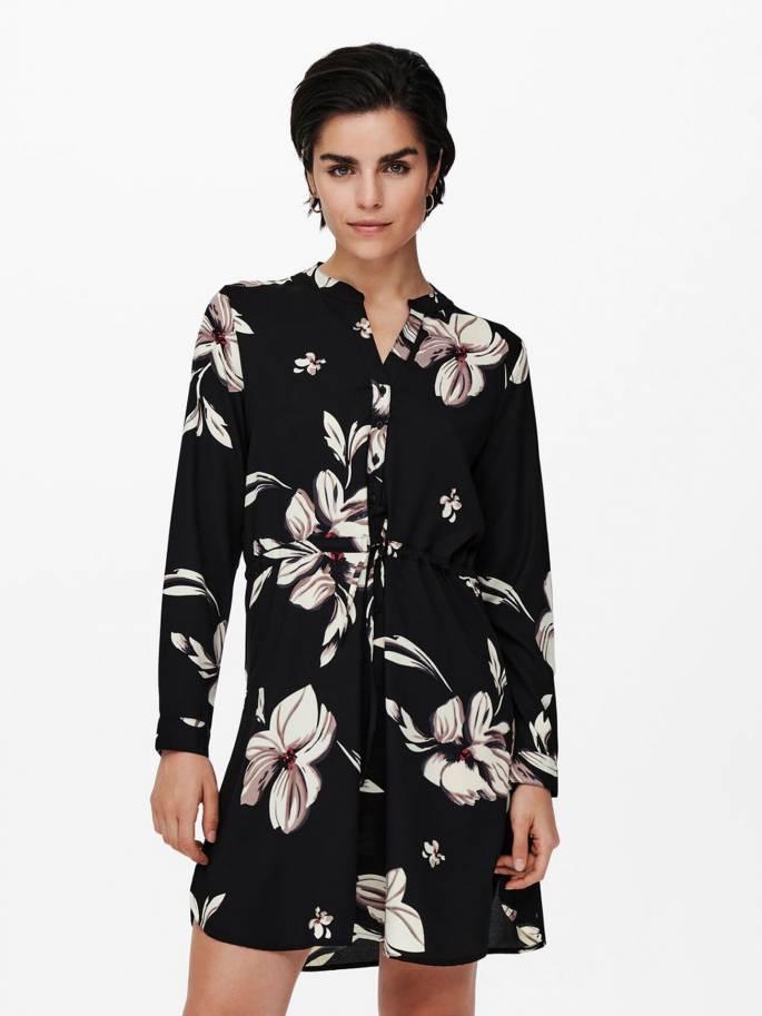 Vestido de flores de manga larga - Mujer - Uesti