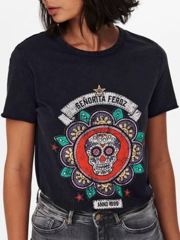 Camiseta con estampado en la parte frontal - Mujer - Uesti